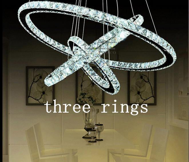 tienda online lmparas blancas anillo led k crystal lustre casera decorativa moderna lmpara colgante de techo de luz diseo creativo aliexpress