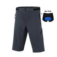 מחזור אופני הרי MTB Downhill מכנסיים גברים לנשימה מהיר יבש מכנסיים רכיבה על אופניים עם כרית ג 'ל M גודל תחתונים/L/XL/XXL