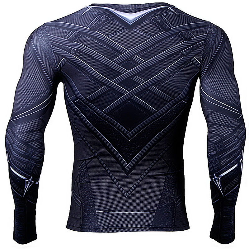 Black Panther 3d Printed Regular Long Sleeve Compression