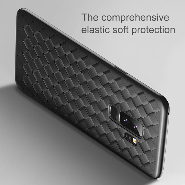 Baseus Samsung Galaxy S9 S9 Plus Luxury Grid Weave Silicone Back Case Cover