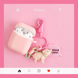 Image 4 - Cute Dog Silicone Case For Apple AirPods Case Cover Funny Bluetooth Earphone Case For Airpods Protective Cover Cartoon Key Ring