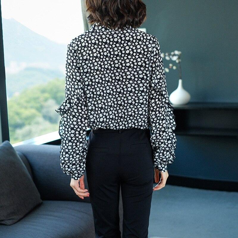 Mujer De See Chart Manga Camisas Larga Blusa Nuevo Volantes Seda Primavera Verano Impresión 2019 100 Jerseys AcwTqU4ff