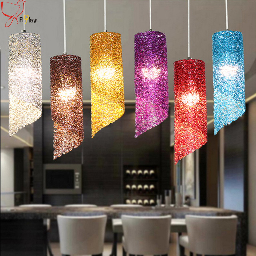 Modern aluminum pendant lights fixture colorful Oblique mouth 32 10 CM restaurant bar cafe dining room