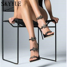 7fdc3a5ad41fac 2018 New Design Genuine Leather Bling Bling Gold Silver Black Rehionstone  Stars Beading Straps Gladiator Sandals HIgh Heels