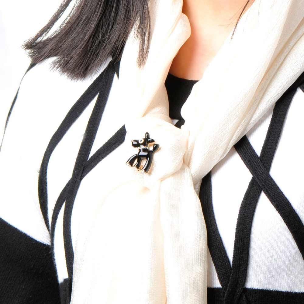 Милые мини-броши для собак для женщин и мужчин, эмаль, черные собаки, украшение для шарфа значок клуба, Каса, мужчин и животных, нагрудные булавки Bijoux