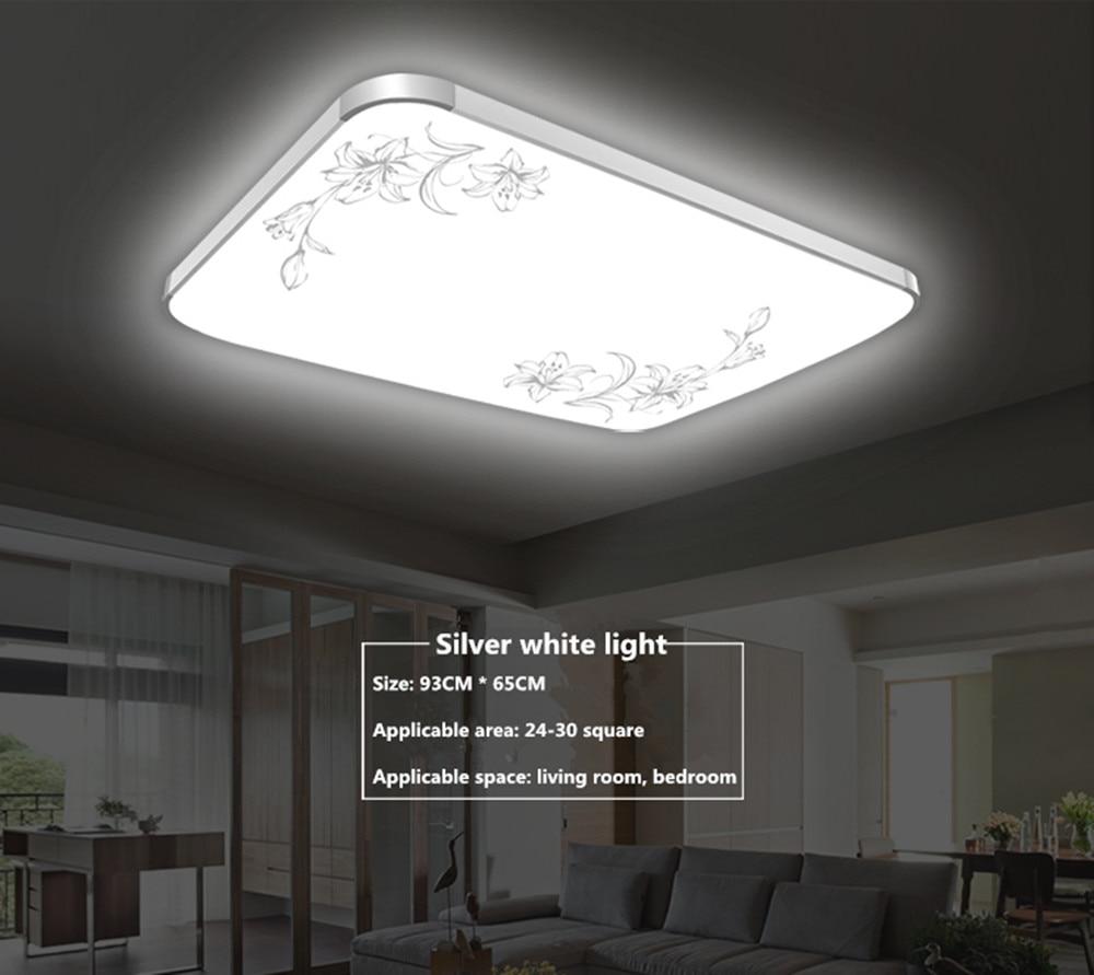 LED Ceiling Lamp Dimming Living Room Rectangular Simple Modern Restaurant Balcony Bedroom