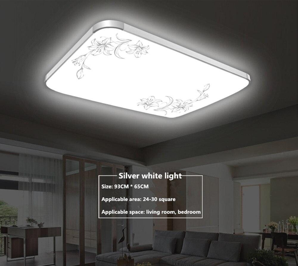 Led Deckenleuchte Dimmen Wohnzimmer Lampe Rechteckige Einfache Moderne Restaurant Balkon Schlafzimmer Beleuchtung