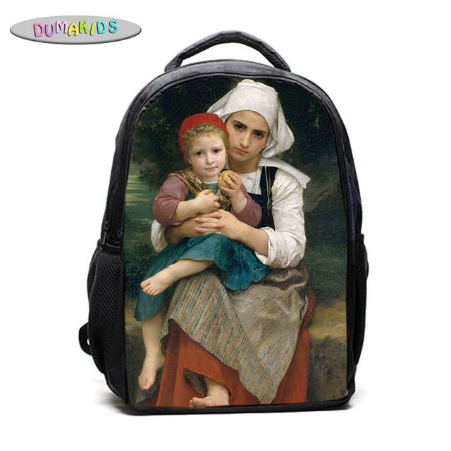Us 22 25 William Bouguereau Van Gogh School Bags Baby Kidsdr Doctor Who Tardis Exploding Backpack Slouch Book Bag In Backpacks From