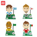 Wise Hank Diamond Mini Blocks World Cup football Star Model DIY Toys C Ronaldo/Messi/Beckham Gifts Building Kits