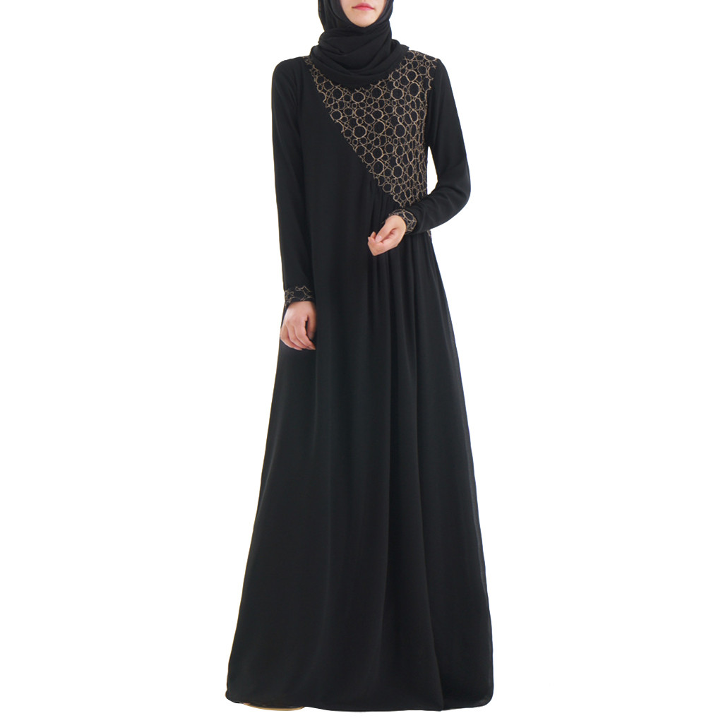 Femmes arabes dames Caftan Caftan malaisie Abayas Caftan islamique Maxi robe à manches longues arabe Jilbab Abaya vêtements 4.17