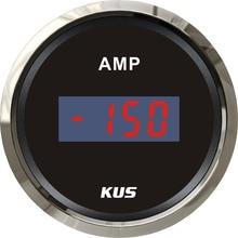 KUS – ammètre numérique étanche avec capteur de courant, 12V/24V, 52MM, 2 pouces, avec rétro éclairage, 150a