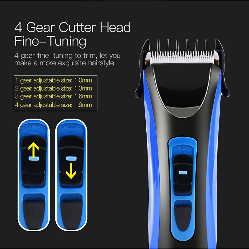 Haute qualité tondeuse à cheveux CE certifié IPX7 étanche Super silencieux professionnel Rechargeable électrique tondeuse à cheveux bleu P47 - 3