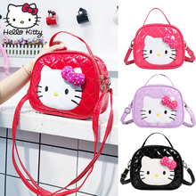 Hello Kitty Cartoon Bow Childrens Girls Casual Fashion Single Shoulder Diagonal Bag Waterproof Custom Shopping Rucksacks