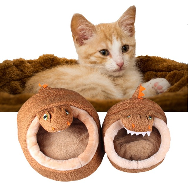 Warm Dinosaur Shaped Pet Bed Luxury House With Mat Dog Sofa Sleeping Bed  Cats Dog Kennel