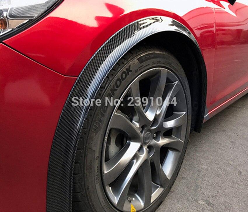 車のフェンダーフレア延長ホイール眉毛プロテクターリップ成形 150 センチ * 2 フィットマシン用マツダ: 3 、 6 、 CX 5 、 CX 7 -