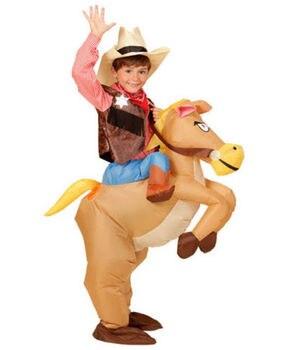 Enfants cadeau Animal Halloween Costume pour enfants gonflable Cowboy Ride cheval enfants jour pourim fête robe pour enfants hauteur 120 cm