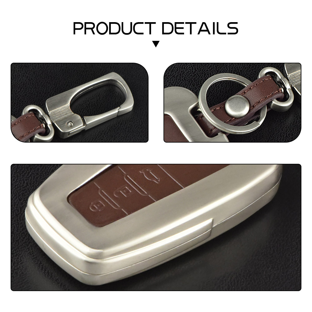 Image 5 - Zinc alloy+Leather Car Remote Key Cover Case For Toyota CHR C HR Prado 2016 2018 Prius Camry Corolla RAV4 2018 Accessories-in Key Case for Car from Automobiles & Motorcycles