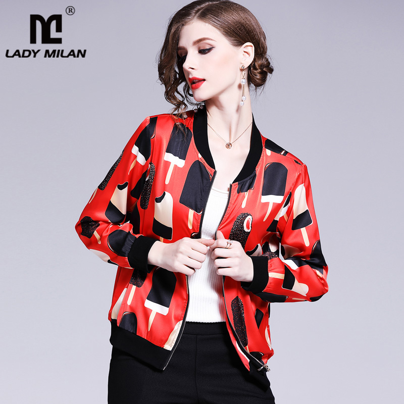 New Collection Ladies Long Sleeves Printed High Street Fashion Blouse Outerwear Jackets