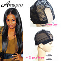 Amapro Products U Part Glueless Lace Wig Cap For Making Wigs With Adjustable Straps Weaving Caps For Women Hair Net & Hairnets