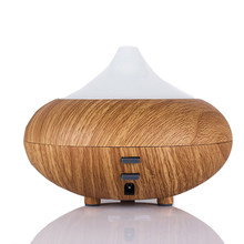 Ultrasonic Air Humidifier Aroma Diffuser Wood Grain Aromatherapy for Office Purifier Mist Maker 12W Super Quite(China)