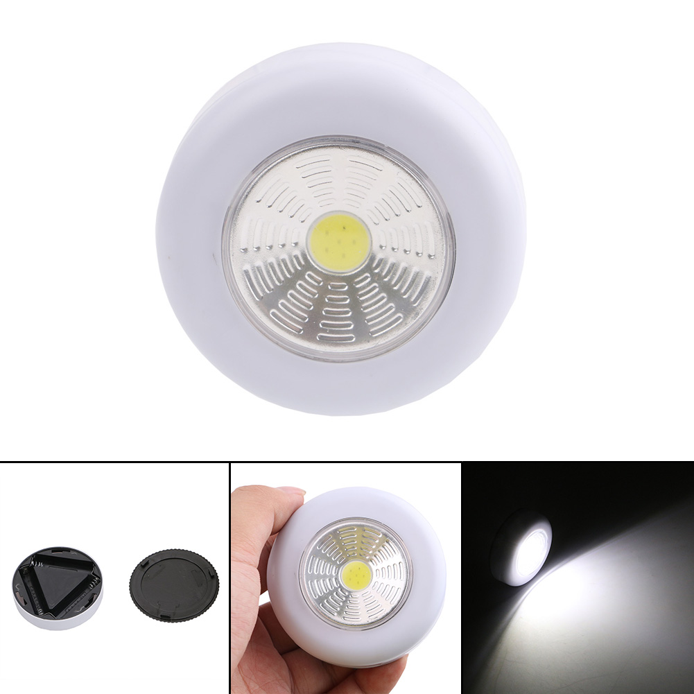 Lights & Lighting Honesty 4 Led Touch Control Night Light Round Lamp Under Cabinet Closet Push Stick On Lamp Home Kitchen Bedroom Automobile Use