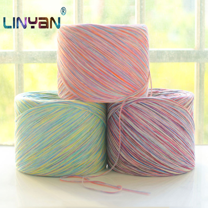 250 G 100% Colored Cotton Knitting  Katoen Crochet Lanas Para Tejer A Crochet Yarn Close-fitting Children's Wool Haakgaren ZL59