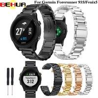 Сменный металлический ремешок для часов Garmin Fenix 5 браслет из нержавеющей стали ремешок для часов для Forerunner 935 браслет для Fenix5 Plus