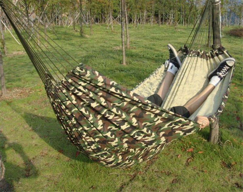 best promotion camouflage portable parachute canvas fabric hammock travel camping outdoor for two persons lowest price in hammocks from furniture on     best promotion camouflage portable parachute canvas fabric hammock      rh   aliexpress