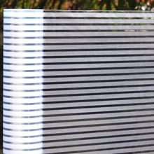 Frosted stripe Window film Privacy electrostatic 3D Glass Vinyl sticker office home Self-adhesive decorative length 3 meter