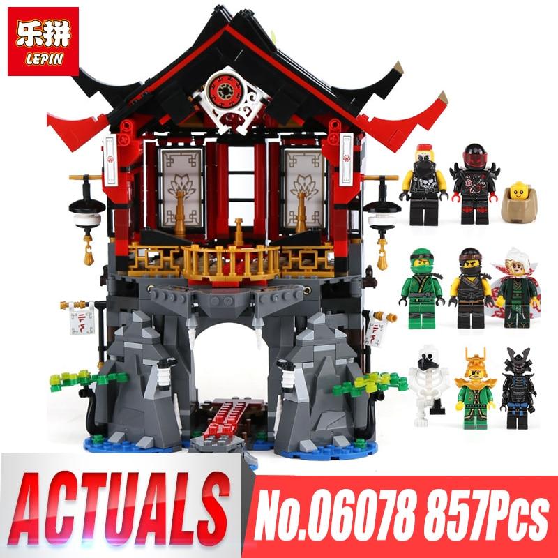 Lepin 06078 Ninja Toys legpinglys 70643 Temple of Resurrection Set Building Blocks Bricks New Kids Toys Christmas Birthday Gift resurrection man vol 02