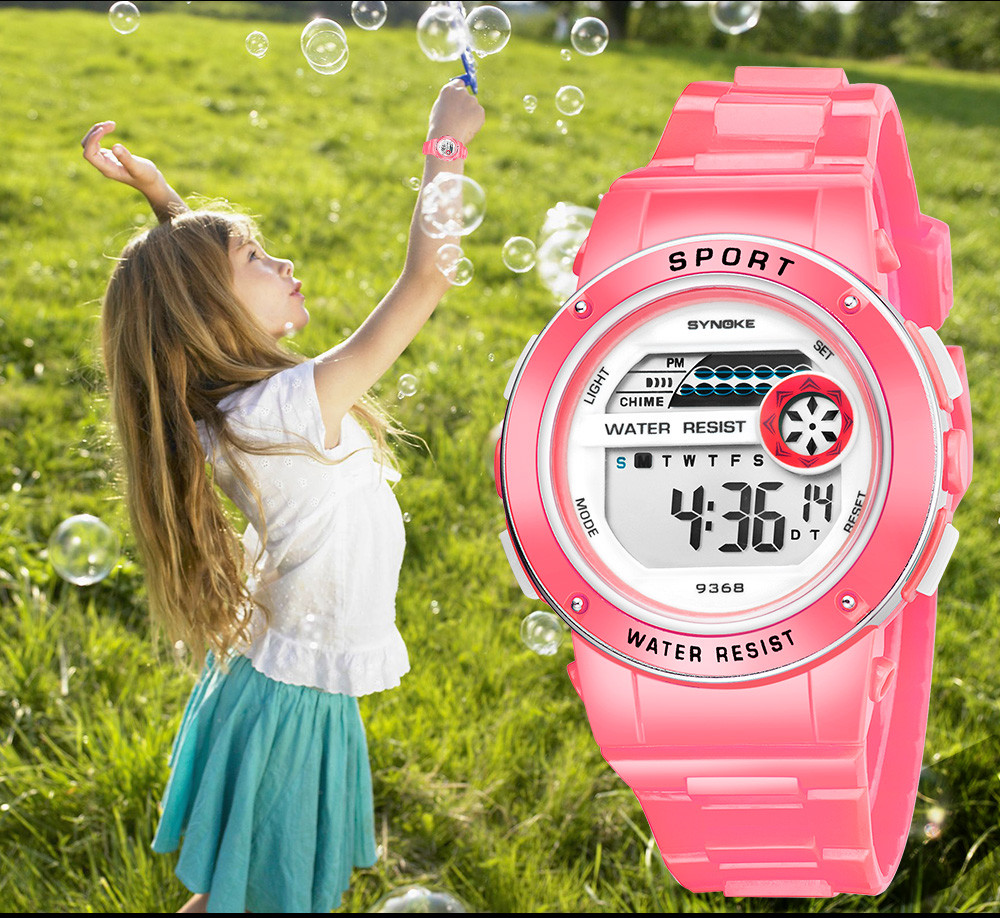 Children Watch Outdoor Sports Kids Boy Girls LED Digital Alarm Waterproof Wristwatch Week display Children's Watches