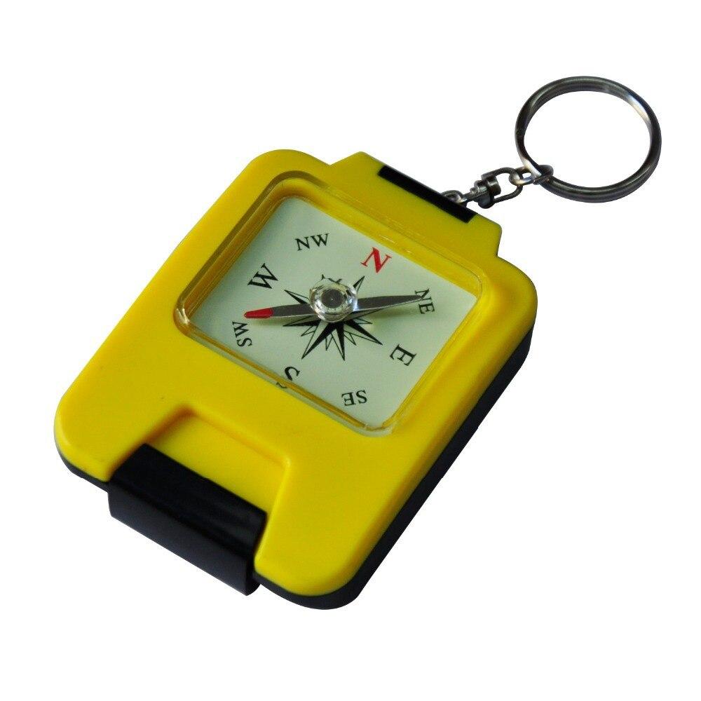 AceCamp Кемпинг Пеший Туризм складной компас зеркало коробка для хранения и брелок ручной Тип желтый Цвет Бесплатная доставка