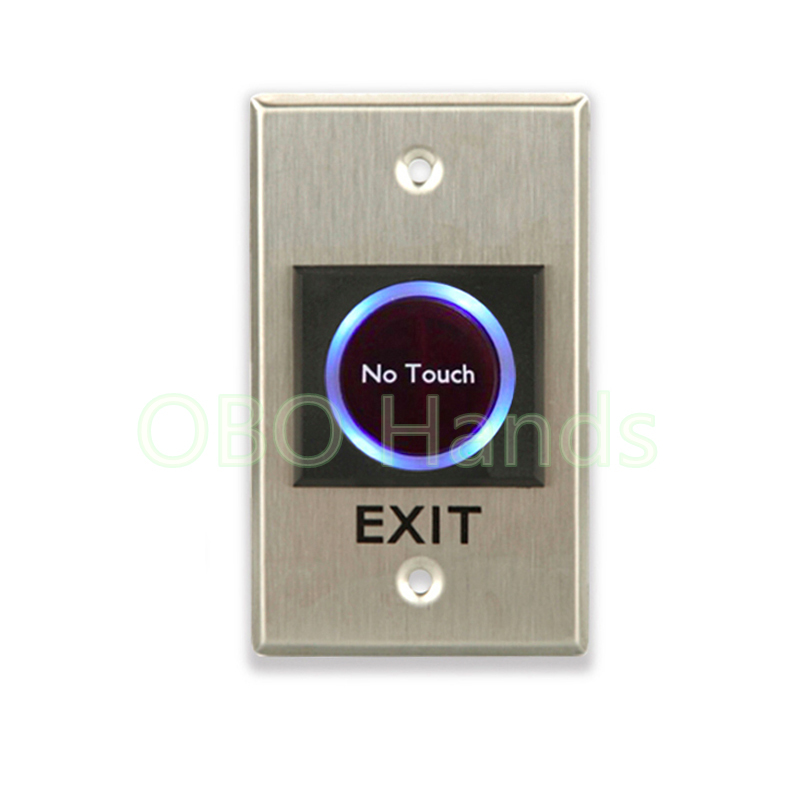 Good quality Infrared no touch exit button with LED emergency push button switch for door security alarm access control system
