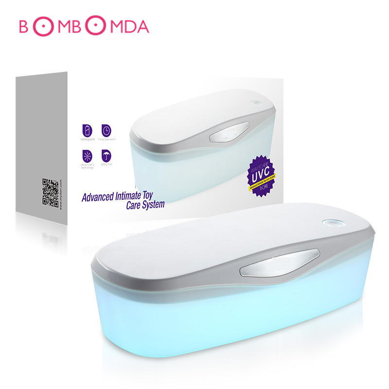 UV disinfection box For Adult Sex Toys Product USB Charge Sterilization Disinfection vibration egg Box for Vibrators Dildo White dental sterilization box for gutta percha root canal file high speed bur disinfection box dental tool box disinfection box sl308