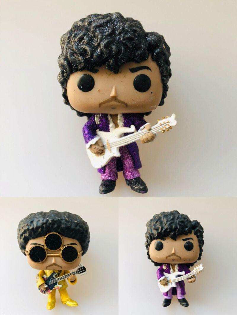 Original Funko pop Rocks: Prince - 3Rd Eye Girl, Purple Rain with Guitar Vinyl Action Figure Collectible Model Loose Toy No Box hearth