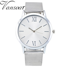 2016 Fashion Watch Women Luxury Gold Silver Mesh Band Watch Casual Stainless Steel Quartz Watch Relogio Feminino Gift Clock 1974