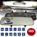 Car Rear View Mirror Driving Recorder 2.4 Inch GPS Car Rearview Backup Parking Camera HD 1080P 120 Degrees