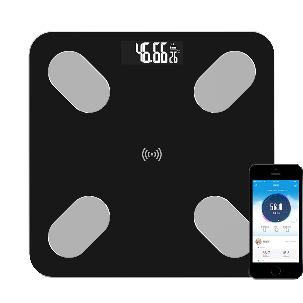 Bluetooth Digital Body Fat Scale - Intelligent Scale Bathroom Wireless Weight Scale Body Composition Analyzer And Smartphone App(China)