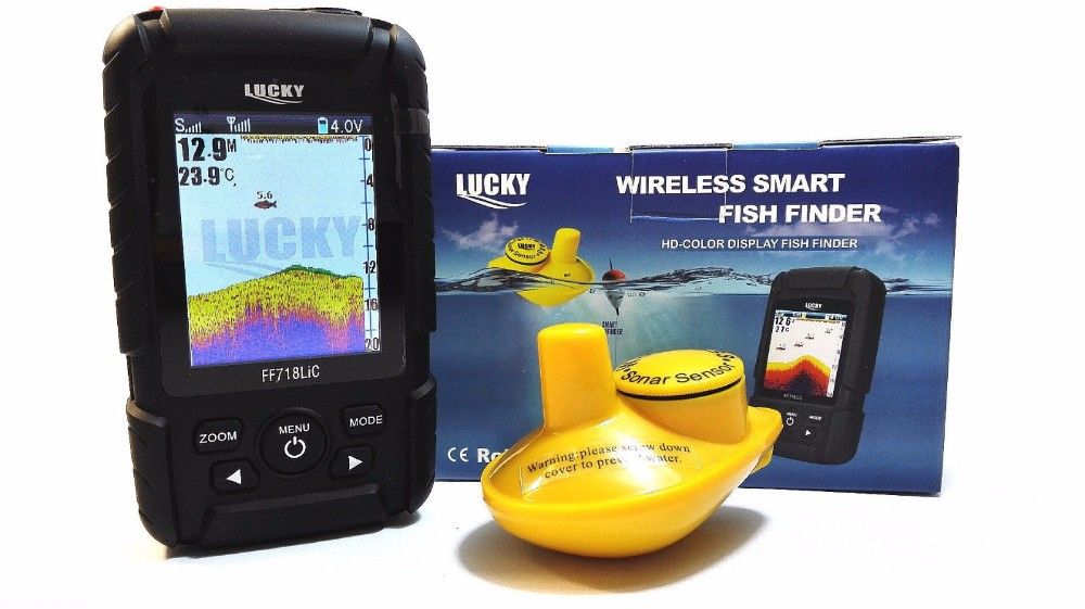 Free Shipping!Lucky FF718LiC Wireless Portable Fish Finder 45M/147Feet Sonar Depth Waterproof Fishfinder Ocean River Lake free shipping wilkinson lic vintage single coil pickup fit mwvsn m b