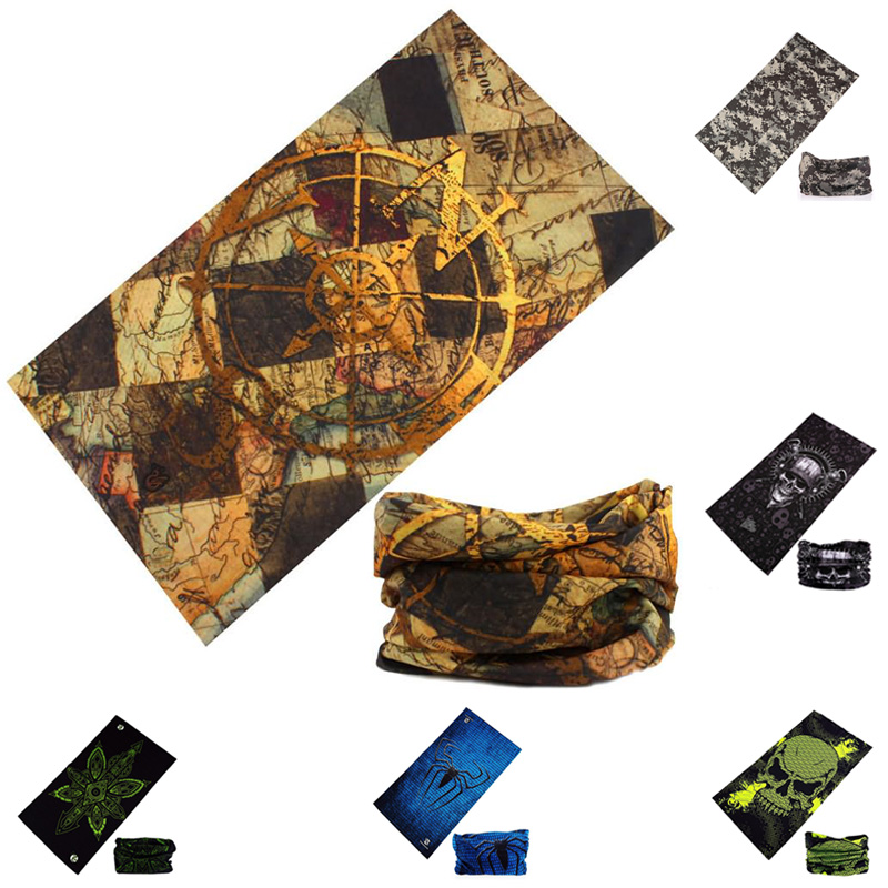 Thin Printing Magic Scarf Bandanas Headwear Cycling Sport Women Men Multifunctional Headband Outdoor Tactical Scarves