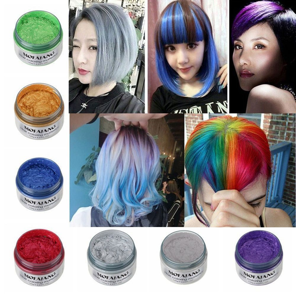 Image 2 - MOFAJANG hair color wax hair dye permanent hair colors cream unisex strong hold grandma grey disposable pastel dynamic hairstyle-in Hair Color from Beauty & Health