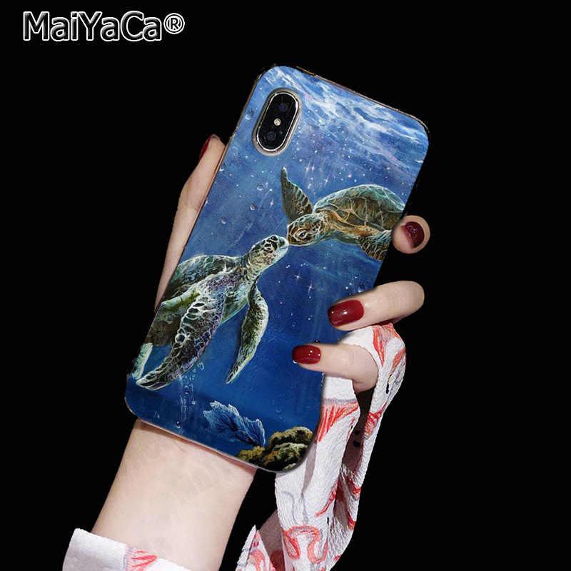 MaiYaCa 水彩カメ亀に販売! 高級 iphone 11 ためのプロ 8 7 66S プラス X 5S 、 SE XR XS XS 最大カバー