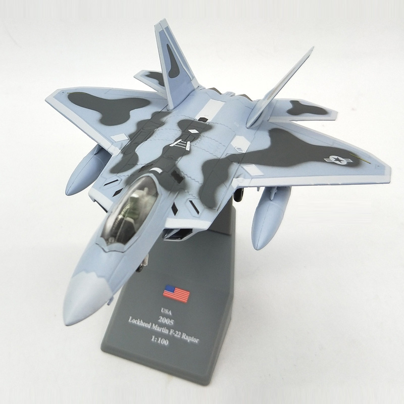 Amer Lockheed Martin F 22 Raptor Fighter 1 100 Finished Alloy Model Toy For Collect Gift