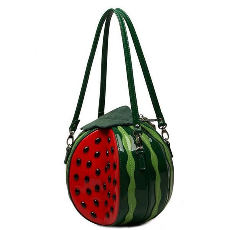 2017 New Fashion Trend Women Bag Summer Fruits Crossbody Bags for Women Watermelon Shape Beach Bag Sex Handbag High Quality ldajmw new pattern cool restore ancient kettle shape woman bag street fashion chain handbag personality trend messenger bags