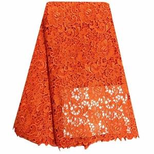 Image 2 - Африканская кружевная ткань желтого цвета, гипюровая кружевная ткань 2018, Высококачественная нигерийская кружевная ткань для свадебных платьев 13 5