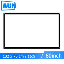 AUN 60 inch 16:9 Portable Projector Screen Plastic Screen for Home theater Travel support LED Projector DLP proyector S60