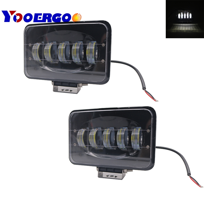 Rectangle 4x6 Inch LED Headlights H4 Plug H4651 H4652 H4656 H4666 H6545 Projector for Peterbil Kenworth