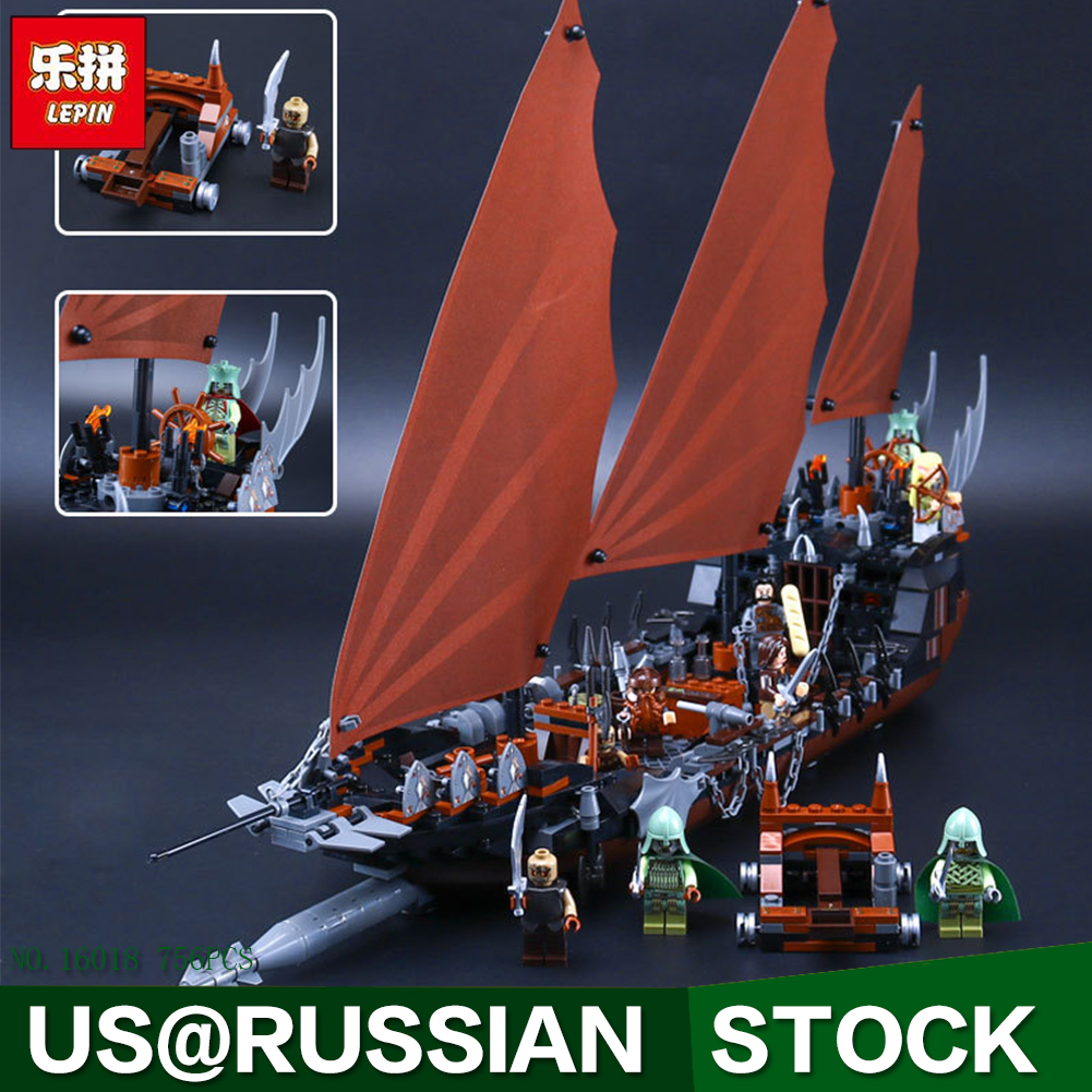 Lepin 16018 Genuine New The lord of rings Series 756pcs The Ghost Pirate Ship Set Building Block Brick Toys 79008 children gifts 590pcs enlighten pirate series toys pirate ship weapons assembling building block bricks set compatible with lepin friends