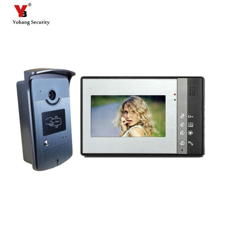 Yobang Security freeship 7 Inch Video Door Phone Video intercom  Monitor Doorbell Home Security Night Vision Waterproof Camera hot sale tft monitor lcd color 7 inch video door phone doorbell home security door intercom with night vision