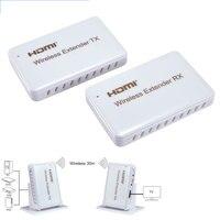 Беспроводной HDMI удлинитель 30 м/100ft 1080 P Беспроводной передачи видео и аудио передатчик/приемник Поддержка hdcp1.4, 3D, 1920x1080/60 Гц